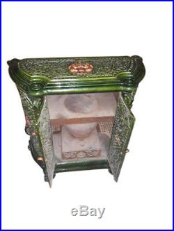 Great Antique French Cast Iron Stove, Late 19th Century