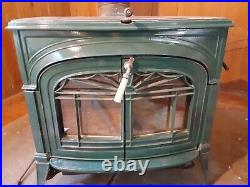 Green Vermont Casting wood stove