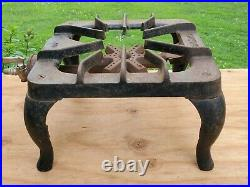 Griswold 201 Cast Iron One Burner Gas Stove Grill Vtg Old Camping Hunting Rare