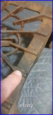Griswold Erie PA No 33 3 Burner Table Top Cast Iron Camping Gas Stove Antique