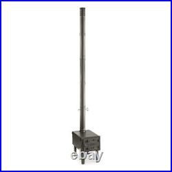 Guide Gear Outdoor Wood Cast Iron Stove Camping with Adjustable Vent