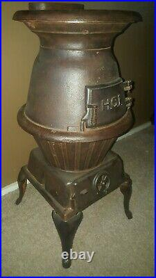 HCI Cast Iron Pot Belly Stove
