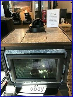 Hearthstone Castleton 8031 Tru-Hybrid Wood stove matte black soapstone