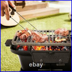 Heavy Duty Cast Iron Charcoal Grill Tabletop BBQ Grill Stove for Camping Picnic