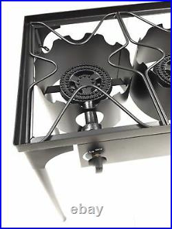 Heavy Duty Steel Propane Gas Double 2 Burner Outdoor Camping Patio Stove Cooker