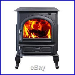 HiFlame 18KW Medium Cast Iron Wood Burning Stove HF717UA Paint Black-NEW IN BOX