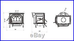 HiFlame 2100 Sq. Ft Double Doors Cast Iron Wood Stove HF737U-ONLY FOR PICKUP