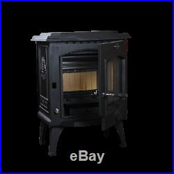 HiFlame England Style Top or Rear 1100 Sq. Ft Cast Iron Wood Stove Only PICKUP