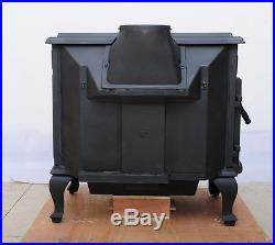 HiFlame Stallion Extra Large Wood Burning Stove Double Doors HF737U Paint Black