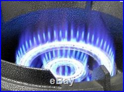 High Pressure 80MJ LP Gas Wok Burner Cooker Stove DualRing ControlHose&Regulator