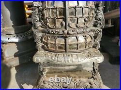 Jewel Antique Parlor Cast Iron Wood Stove Heater Pot Belly