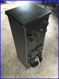 Jotul 507 Classic Cast Iron Multi Fuel Burning Stove Green Rear Flue Exit #11