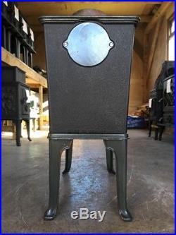 Jotul 602 Classic Cast Iron Wood Burning Stove Green Enamel Top Flue Exit #24