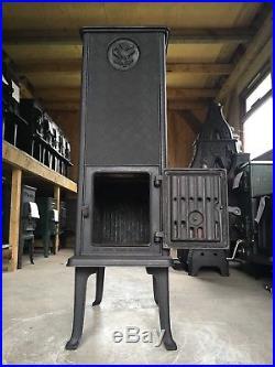 Jotul 606 Classic Cast Iron Wood Burning Stove Black Finish Rear Flue Exit #50