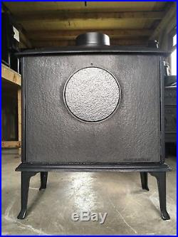 Jotul F8 Classic Cast Iron Wood Burning Stove Blue Grey Enamel Top Flue Exit #46