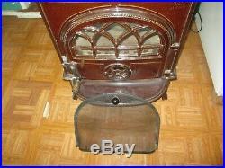 Jotul wood stove ceramic cast iron