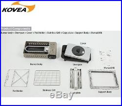 KOVEA 3 WAy All-in-one GAS Stove KG 0904PM OUTDOOR BBQ Camping Option Carry bag