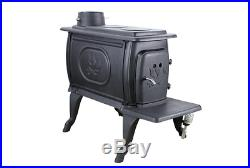 Logwood 900 Sq. Ft. EPA Certified Cast Iron Stove Heating, Venting & Cooling New
