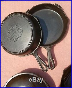 Martin Stove & Range Co Cast Iron Collection Skillet LID Griddle Toy Dutch Oven