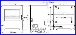 Morso Db15 Boiler Stove! Defra Multifuel Multi Fuel Boiler 15kw 15 Kw