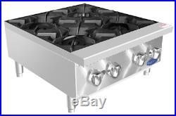 NEW 24 4 Burner Hot Plate Cast Iron Grates Counter Range Atosa ATHP-24-4 #2547