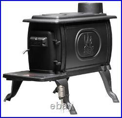 New Us Stove Us1269e 54000 Btu Cast Iron Log Wood Stove Boxwood Heater 8841009