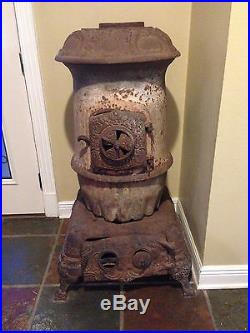 OK Terror 18-4 Antique Pot Belly Cast Iron Stove about 5' Tall BCK2017 You Ship
