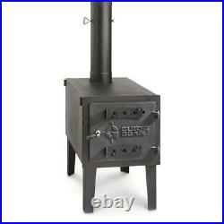 OUTDOOR WOOD BURNING LARGE STOVE Steel Camping Survival Tent Grill Cook Portable