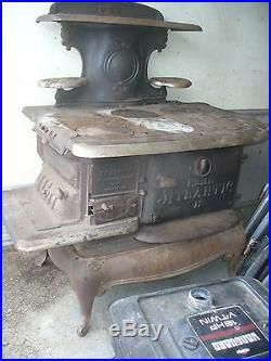 Old Antique cast iron oven /stove old Atlantic