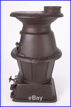 Old Cast Iron King Stove & Range 30A Pot Belly Stove For Parts Or Repair Project