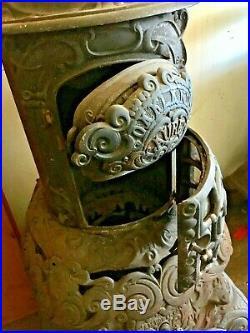 Ornate 1860s Cast Iron Parlor Stove