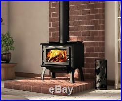 Osburn 1700 Wood Burning Stove Free Standing Leg or Pedestal Cast Iron Door