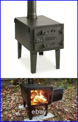 Outdoor Wood Burning Stove Steel Adjustable Vent Pipe for Tent Cooking Camp