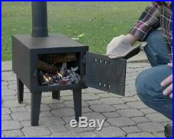 Outdoor Wood Burning Wood Stove For Camping Trips Or Use as Out Door Fireplace
