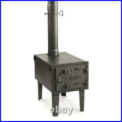Outdoor Wood Stove Cast Iron Portable Camping Pipe For Vented Tent Cooking