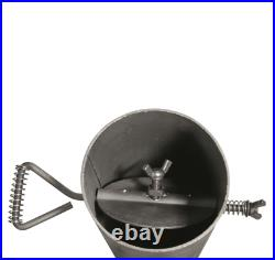 Outdoor Wood Stove Cast Iron Portable Camping with Pipe For Vented Tent Cooking