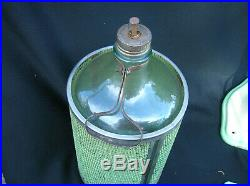 PORCELAIN BARSTOW CAST IRON DUAL FUEL STOVE WithMATCHING FUEL STORAGE BOTTLE STAND