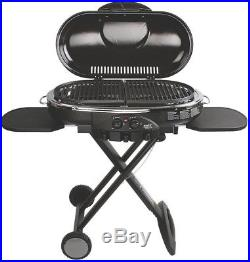 Portable Propane Grill Stove Coleman Bbq Gas Camp Lxe 2 Burner Foldable Blue