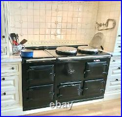 Price Drop AGA Cast Iron Stove 58 Black Enamel Gas Oven Cooker Elegant Retro