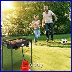 Professional Outdoor Double Stove Propane Burner Portable 2 Cooker 150000 BTU