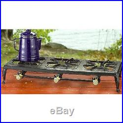 Propane Burner Cast Iron Stove Triple Outdoor Camping Barbecue BBQ Grill Stand