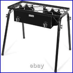 Propane Stove 2 Burner Gas Outdoor Portable Camping bbq high pressure regulator