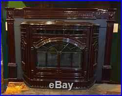 Quadrafire Castile Mahogany Cast Iron Fireplace Insert Pellet Stove, Demo-2014