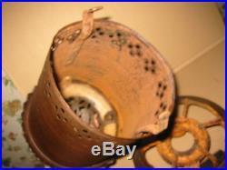RARE 16 TALL STOVE PURITAN CAST IRON & TIN HEATER OIL Sears Griswold DECO