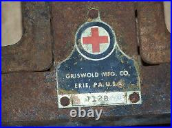 RARE Griswold RED CROSS 2 Burner Cast Iron Cooking Gas Stove Frying Pan WW LP