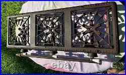 RARE Vintage GRISWOLD Erie Cast Iron 3-Burner Gas Line Stove Model No. 503