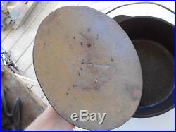 Rare Antique Cast Iron Birmingham Stove & Range No. 8 Dutch Oven Skillet Alabama