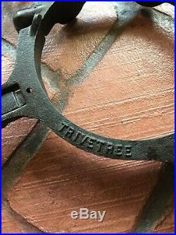 Rare Antique TRIVETREE Cast Iron Trivets for 6 Wood Stove Pipe
