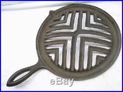 Rare Cast Iron Stove Top Bacon/Steak Grill Grate Broiler Rack Open Fire Tool