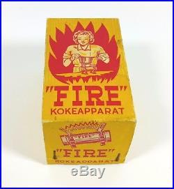 Rare Nos Vintage Camping Fuel Stove Fire Kokeapparat Antique Kerosene